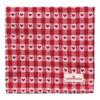 Stoffserviette - Heart petit red
