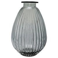 Vase - grey balloon shape L