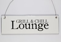 Holzschild - Grill & Chill Lounge