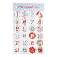 Sticker - Adventskalender Zahlen