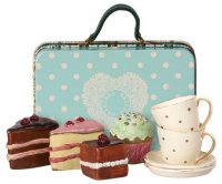 Koffer Set Kuchen Geschirr - suitcase cake tableware