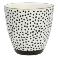 Latte Cup - Dot black