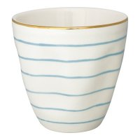 Latte Cup - Sally pale blue w. gold