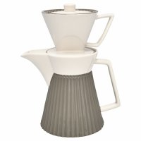 Kaffeekanne mit Filter - Alice warm grey