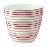 Latte Cup - Silvia stripe white