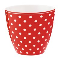 Latte Cup - Spot red B-WARE