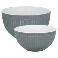 Serving Bowl - 2er Set - Alice stone grey