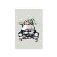 Postkarte - Christmas Car 2019