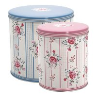 Boxen 2er Set - round box Fiona pale blue