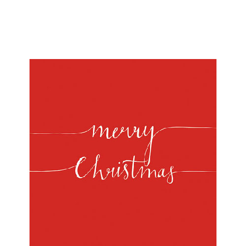 Papierserviette - klein - Christmas note red