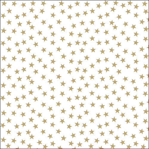 Papierserviette - groß - Stars and trees gold