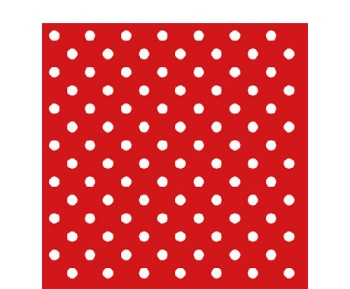 Papierserviette - klein - Dots red